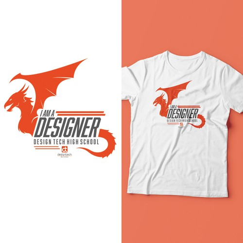 Dragon t-shirt with the title 'T-Shirt Design for Designer school'