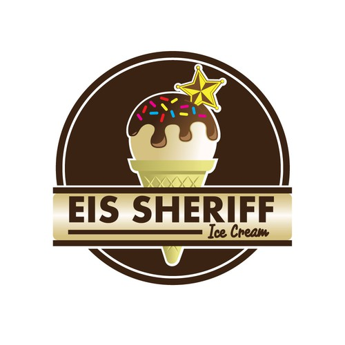 Sheriff design with the title 'Ice cream sheriff'