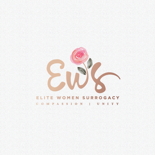 Simple logo with the title 'elite women surrogacy'