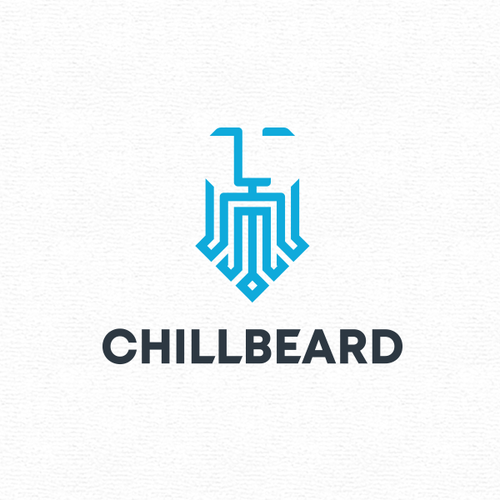 Beard design with the title 'Logo for CHILLBEARD'