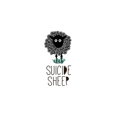 Sheep design with the title 'fun logo for a indie band'