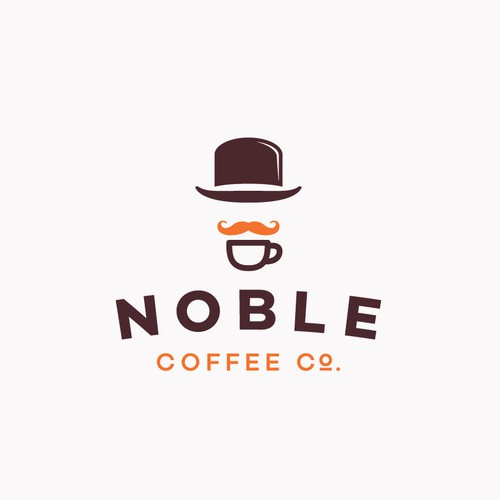 Coffee brand logo with the title 'NOBLE COFFEE CO.'