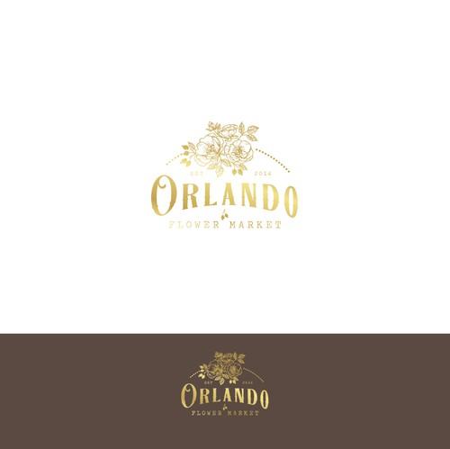 Ink design with the title 'Logo design for Orlando, Florida flower market'