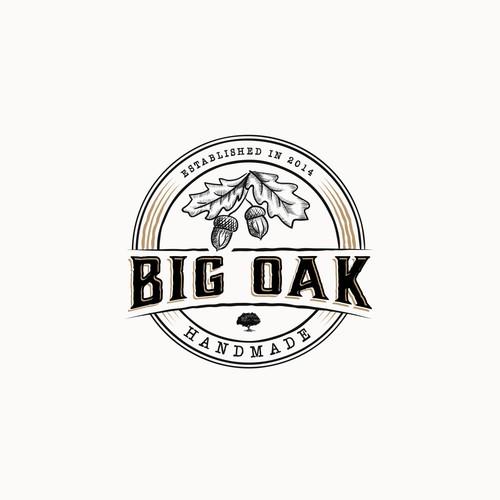 Oak design with the title 'Big Oak Handmade Logo'