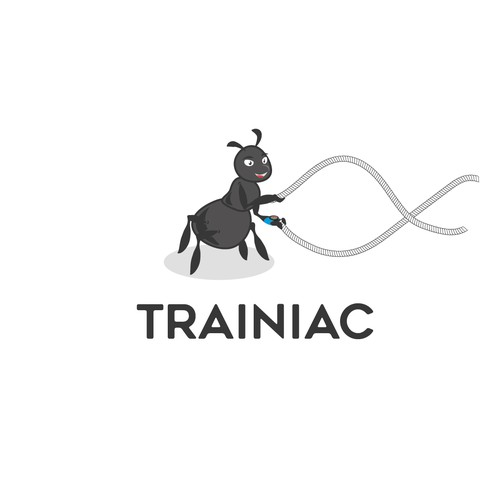 Physical logo with the title 'A training ant'