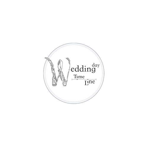 Wedding invitiation logo with the title 'Detailed Wedding Logo'