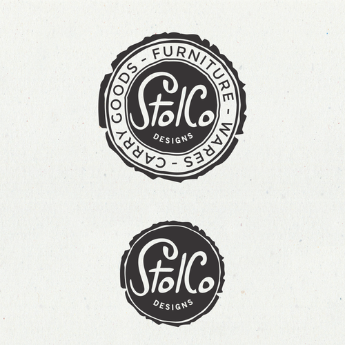 Leather logo with the title 'Rebranding a wood & leather shop'