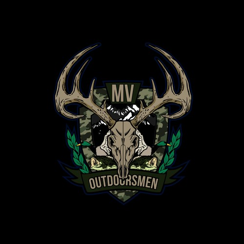 Antler design with the title 'Outdoorsmen hunting '