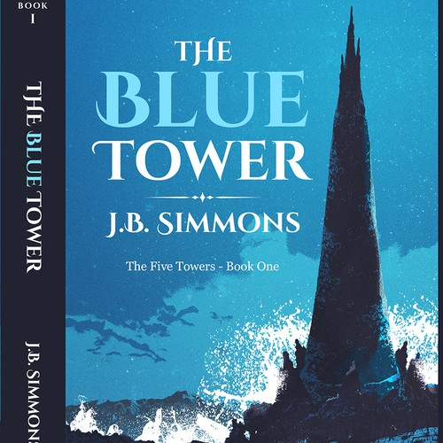 Series design with the title 'The Blue Tower'