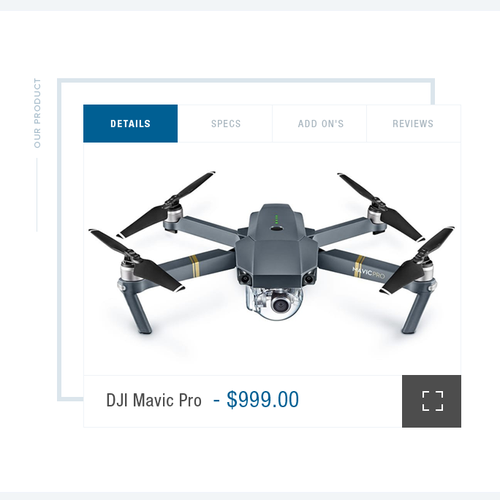Training website with the title 'Drone Pilot Training School'