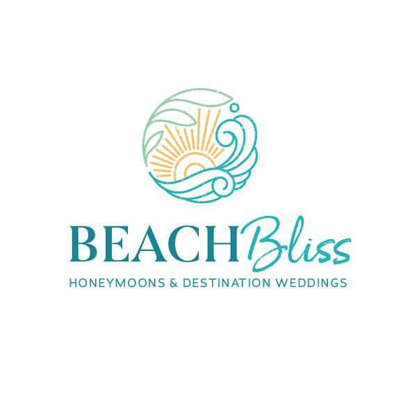 Honeymoon design with the title 'Beach Bliss Logo '