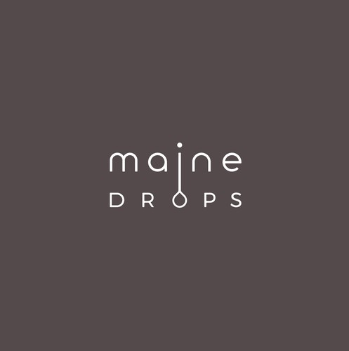 Waterdrop logo with the title 'Simple and clever wordmark'