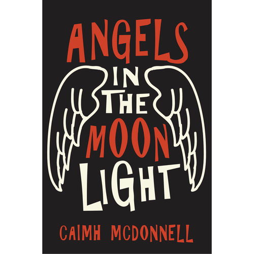 Angel wing design with the title 'Crime/Comedy Novel'