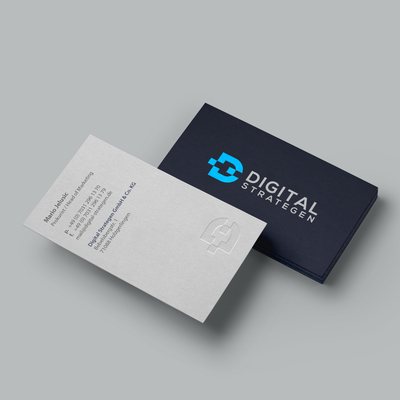 Letterpress Business Cards for Digital Strategen