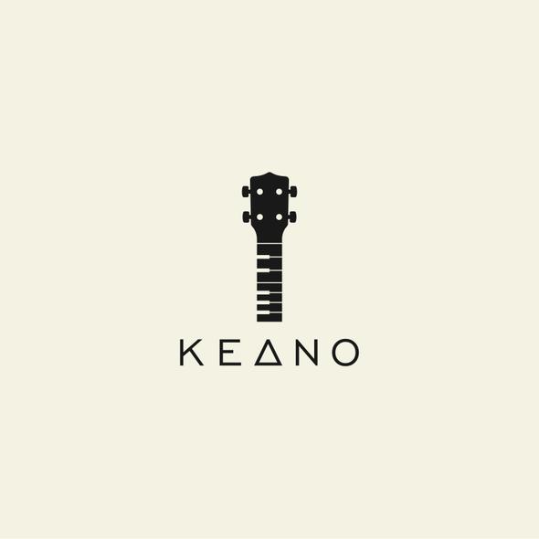 Ukulele logo with the title 'KEANO'