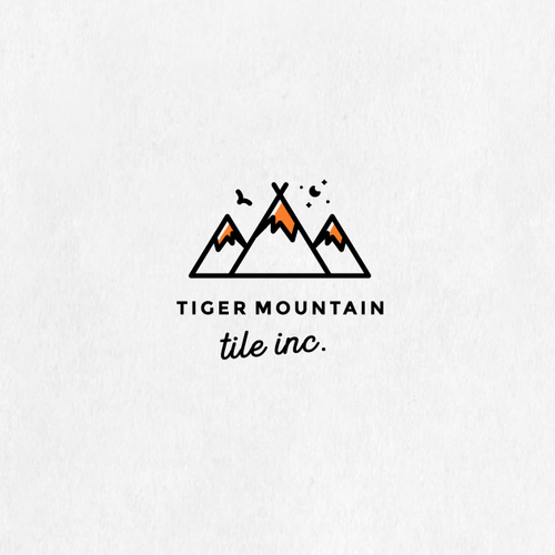 Mountain design with the title 'Tiger Mountain '