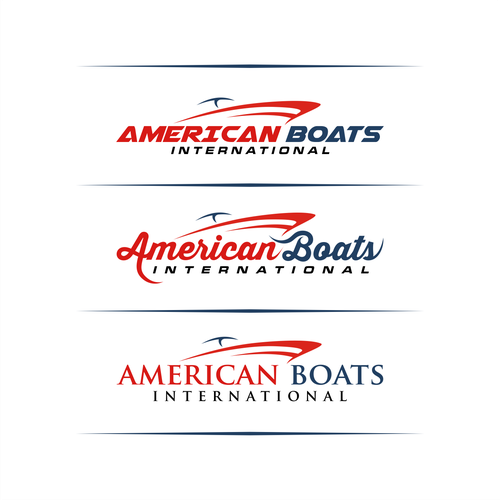 Boat brand with the title 'Logo for American Boats International'
