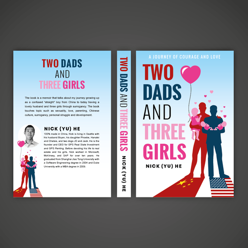 LGBT+ design with the title 'Book Cover design'
