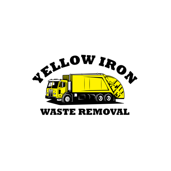 Garbage and trash logo with the title 'Waste Removal Company Logo'
