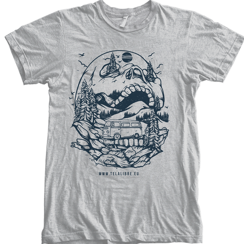 Forest t-shirt with the title 'Wild Skull'