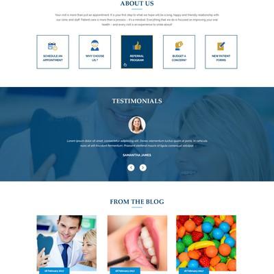 Dental Blue Homepage Design