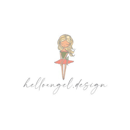 Boutique design with the title 'Little girl'
