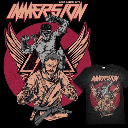 MMA t-shirt with the title 'IMMERSION, MMA T-shirt Design'