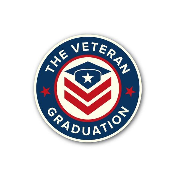 Graduation cap design with the title 'Patriotic logo design for a military merchandise'