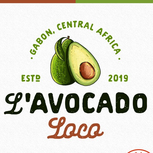 Catering design with the title 'L'Avocado Loco'
