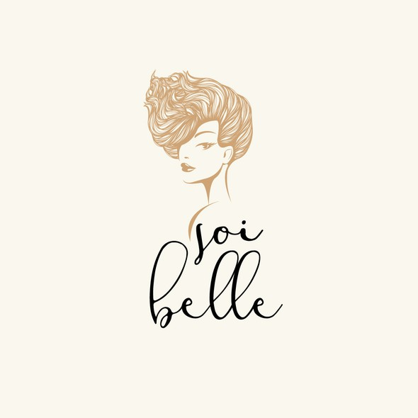 Beauty logo with the title 'Classic logo concept for a Cosmetic Studio'