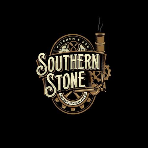 Mechanical design with the title 'vintage restaurant logo'