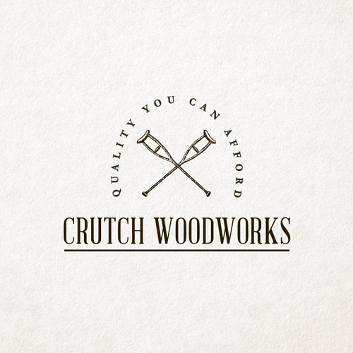 Woodworking design with the title 'Vintage and Classic Logo Design for Hand Made Wood Products'