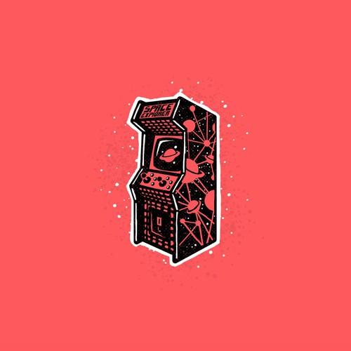 Machine design with the title 'Arcade nostalgia'