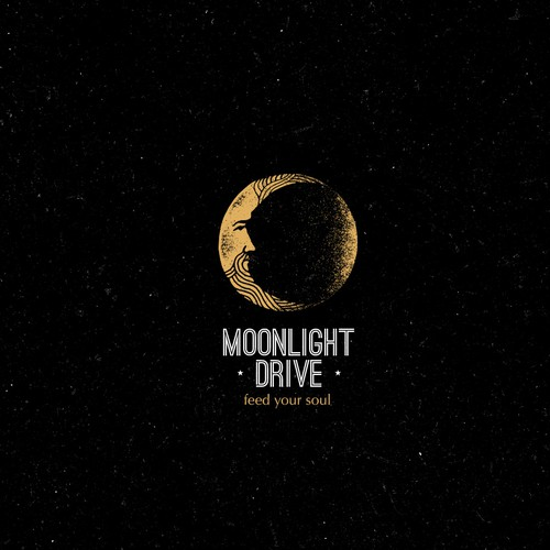Distressed logo with the title 'Moon Creative Rough Concept'