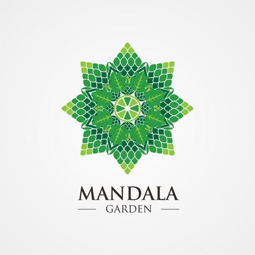 Mandala brand with the title 'Logo Concept for Mandala Garden'