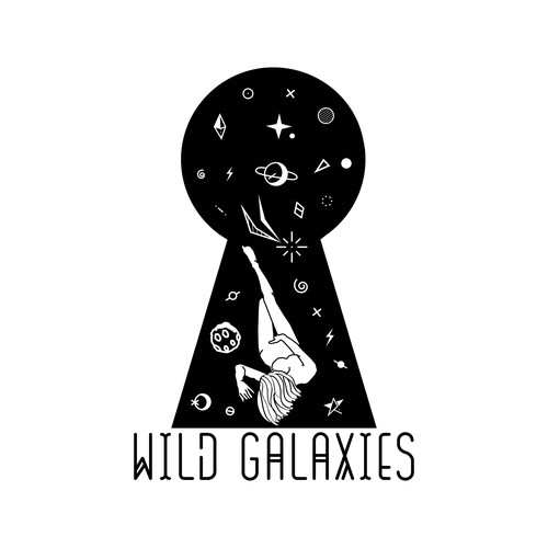 Galaxy logo with the title 'Space Peekhole'