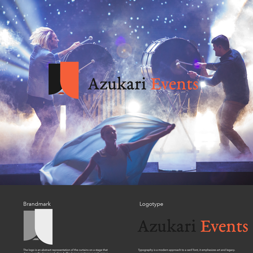Theater logo with the title 'Event organizer logo'