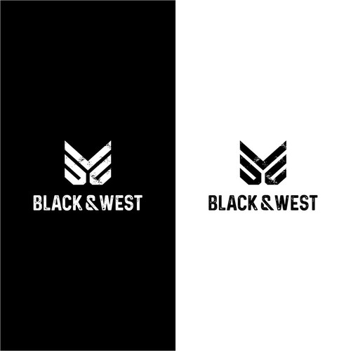 Streetwear design with the title 'Black & West'