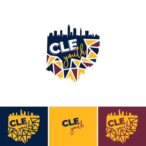 Ohio design with the title 'Cleveland, OH Youth Logo'