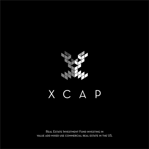Symmetrical design with the title 'Logo for a real estate company XCAP'