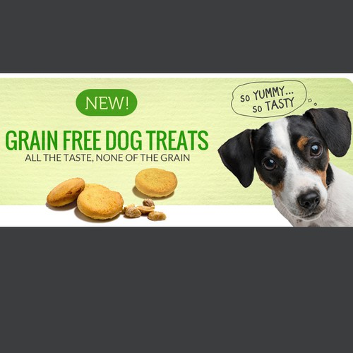 Puppy design with the title 'Dog Treat'