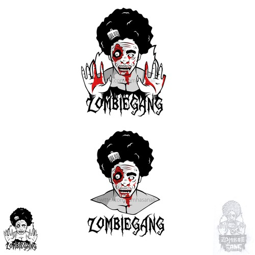 Zombie logo with the title 'New logo wanted for Zombie Gang'