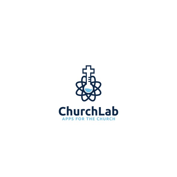 Test tube logo with the title 'Logo for lab company'