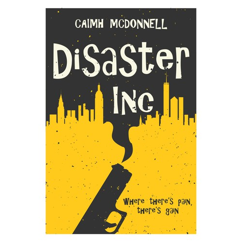 Comedy design with the title 'Disaster Inc book cover'
