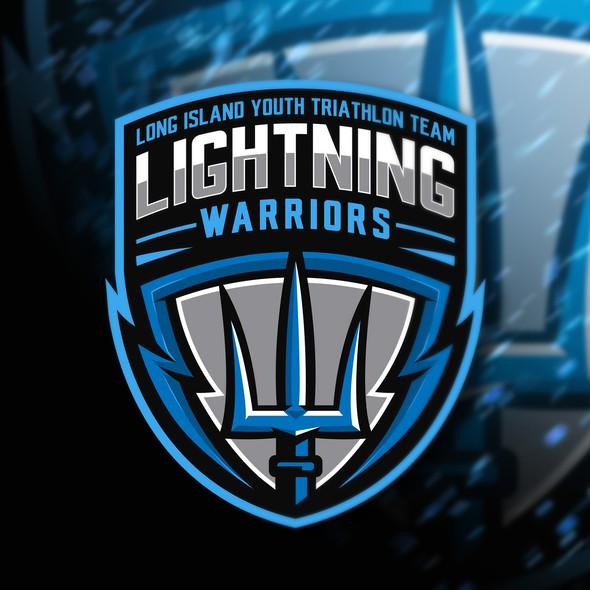 Triathlon design with the title 'Lightning Warriors'