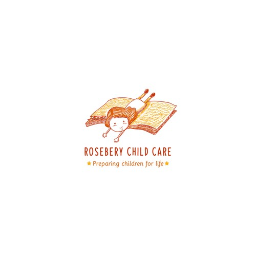 Reading logo with the title 'Rosebery child care'