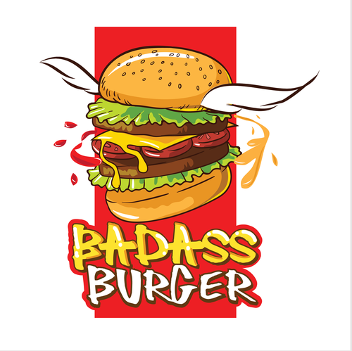 Poster logo with the title 'Badass Burger 2.0'