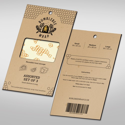 Wrapper packaging with the title 'Bublebee food wraps'