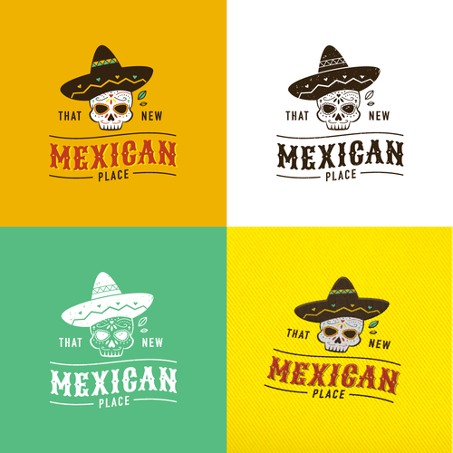 Dia de los Muertos logo with the title 'Logo Design for That New Mexican Place'