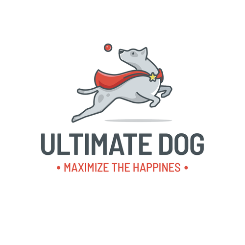 Cape logo with the title 'Superhero dog'